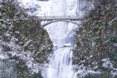 Free Multnomah Falls Frozen Stock Photo - 7576600