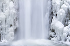 Free Multnomah Falls Frozen In Winter Closeup Stock Image - 35880561