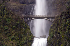 Multnomah Falls Bridge Waterfall Columbia Gorge Royalty Free Stock Photos