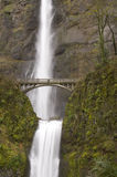 Bridge Multnomah Falls Columbia Gorge Vertical Royalty Free Stock Image