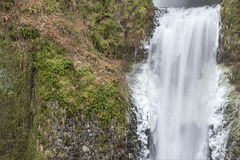 Multnomah Falls Lower Section Closeup Stock Photo
