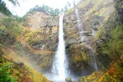Multnomah Falls in Oregon Stock Photo