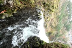 Multnomah Falls in Oregon Royalty Free Stock Image