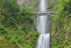 Multnomah Falls, Oregon. Famous bridge over Multnomah Falls in Oregon Stock Photography