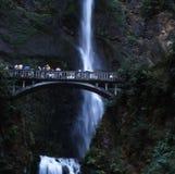 Multnomah falls in Oregon. Portland Royalty Free Stock Photo