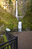 Multnomah Falls in Oregon state. Stock Image