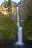Multnomah Falls in Oregon state. Royalty Free Stock Photo