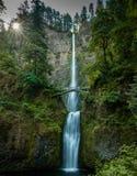Waterfall with bridge royalty free stock photo