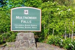 Multnomah Falls Sign Stock Image