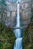 Multnomah Falls in Oregon. Multnomah Falls is a waterfall located in the Columbia River Gorge, east of Troutdale, between Corbett and Dodson, Oregon, United Stock Images