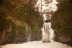 Multnomah Falls in Winter Royalty Free Stock Image