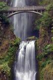 Multnomah Falls With Bridge Stock Photos