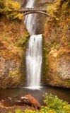 Multnomah vattenfallColumbia River klyfta Oregon Arkivbild