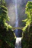 Multnomah Waterfall In Oregon Northwest Royalty Free Stock Photos