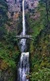Multnomah waterfall in oregon Stock Image
