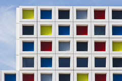 Multocolor windows on Blue Sky Stock Image