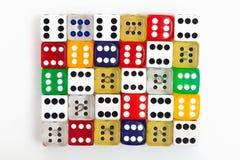 Multocolored-Würfel Lizenzfreies Stockfoto