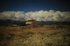 Multon Barn @ Grand Teton Nat`l Park royalty free stock photography
