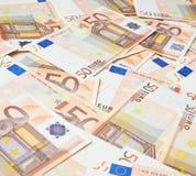 Multuple fifty euro bank notes Stock Image