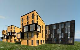 multy-berättelse 3D husMODELL Arkivbilder