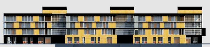 multy-berättelse 3D husMODELL Fotografering för Bildbyråer