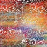 Multy a coloré des tuiles de mur de Digital conçoivent pour le décor gris à la maison ou abstrait de mur de couleur illustration libre de droits