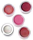 Multy-colored lip gloss Royalty Free Stock Images