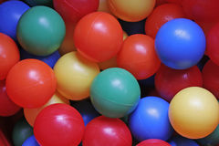 Multy Coloured Plastic Balls. A full frame image of multi-coloured plastic balls Royalty Free Stock Images