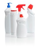 Multy kitchen bottles. Isolated on white Stock Images