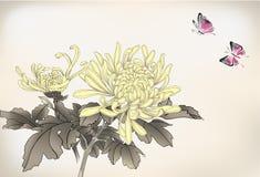 Mum και πεταλούδα Στοκ εικόνες με δικαίωμα ελεύθερης χρήσης