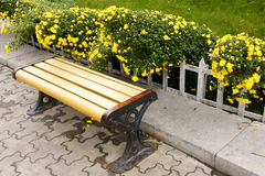 Mum and bench Royalty Free Stock Images