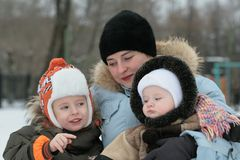 Mum with children Royalty Free Stock Photography