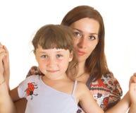 Mum com uma filha fotos de stock