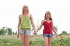 Mum com uma filha imagem de stock