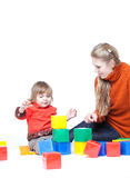 Mum com uma filha pequena imagens de stock royalty free