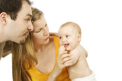 Mum, dad and baby Stock Photos