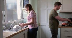 Mum and Dad Preparing Lunch