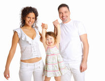 Mum and daddy and their little daughter Royalty Free Stock Photography