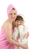 Mum with a daughter Stock Image