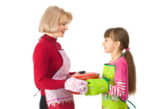 Mum with a daughter Royalty Free Stock Photos
