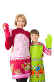 Mum with a daughter Stock Photography