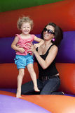 Mum and daughter. Happy smiling mum and her daughter Royalty Free Stock Image