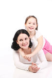 Mum and the daughter Royalty Free Stock Image