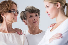 Mum and daughter arguing together Stock Images