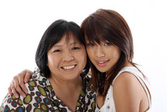 Mum and daughter having fun Stock Image