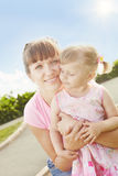 Mum and daughter a Royalty Free Stock Images
