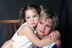 Mum with a daughter Royalty Free Stock Photography
