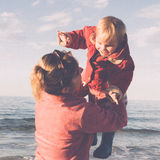Mum and daughter. Woman playing with her daughter Royalty Free Stock Images