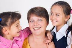 Mum de duas filhas fotografia de stock royalty free