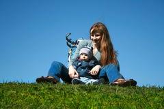 Mum e criança Fotos de Stock
